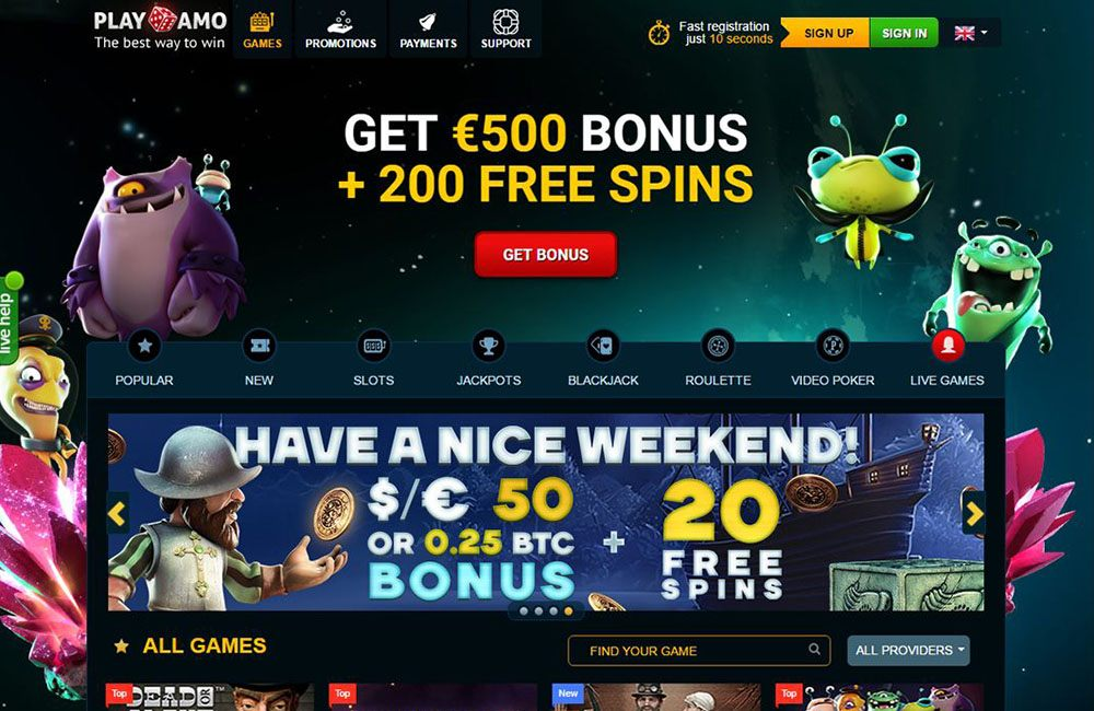 Benefits of playing in Playamo casino app: