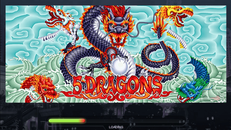 How to play 5 dragons' free pokies online?